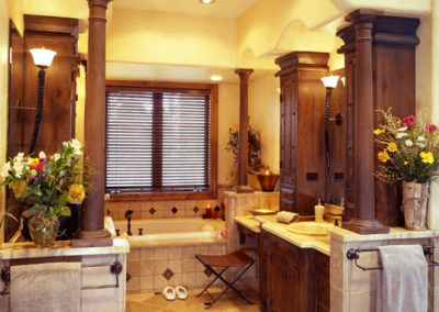 Custom home - master bath
